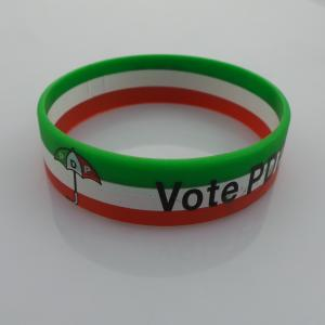 China Eco Friendly 3 Color Vote PDP Iran Flag Sports Silicone Bracelets for Memorial supplier