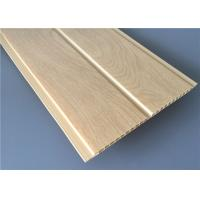 Middle Groove Yellow PVC Wood Panels Lightweight Moisture Proof 5950×200×8mm