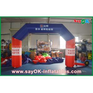 China Black Custom Inflatable Arch Inflatable Finish Line Arch With Print on sale