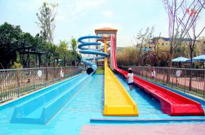 China Stimulating Fiberglass Water Park Slide / High Speed Water Play Equipment For Adults on sale