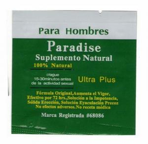 China 2011 new green paradise herbal products on sale