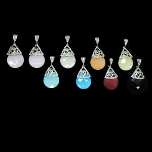 China Newest Fashion Charmming Simplify Waterdrop Party Colorful Drop Earring on sale