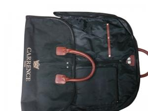 China Recycle Carence 800d Oxford Fabric Suit Garment Bag With Zipper Closure, Leather Handle on sale