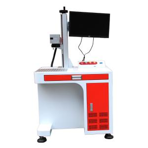 China Optical Fiber Laser Marking Machine / Laser Etching Machine For Stainless Steel on sale