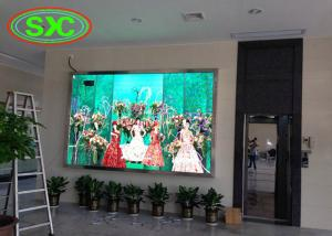 China full color p4 smd die-cast aluminum tv led display wall mouted inside building on sale