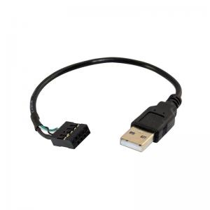 China A Male To Dupont 10 Pin Female Header Usb 2 Wiring For Motherboard Cable 20mm Length on sale