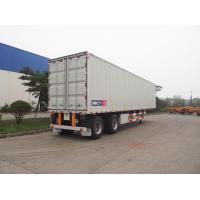Dry Van Container Carrier Trailer Rear Double Door With Container Lock