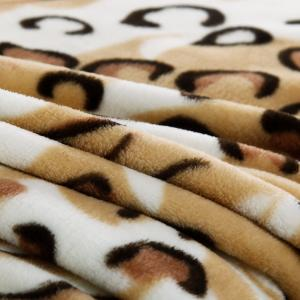 China leopard printed flannel blanket on sale