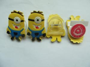 China Multifunctional Cute Minions Soft PVC Bookmark / Paper File Holder / Nets Clip Accept Custom Other Shapes For Promotion on sale