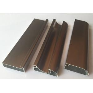 China Anti Rust Aluminum Cabinet Door Extrusion/ Frame Extrusions Coffee Color on sale