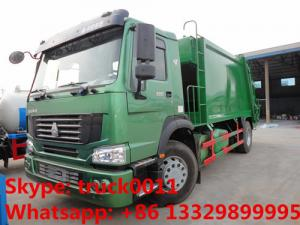 China SINO TRUK HOWO LHD/RHD garbage compactor truck for sales, Best price12cbm compacted garbage truck for sale on sale