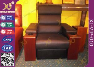 China Modern Genuine Leather Finished Home Theater Sofa , Leisure Electric Recliner Sofa on sale