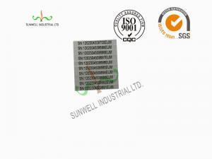 China Custom Design Waterproof Vinyl Stickers Labels PE / PET / BOPP Silver Background on sale