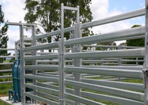 China Smooth Surface Cattle Yard Panels , Lightweight Livestock Panels Anti Broken on sale