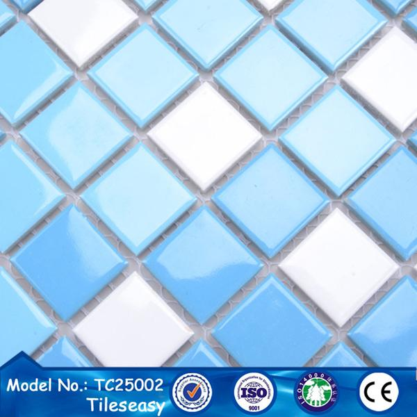 prices of design blue-mix porcelain floor swimming pool tile ...