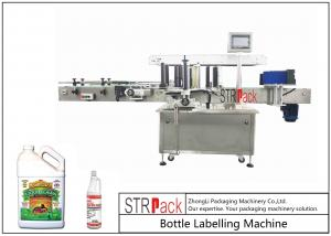 China Self Adhesive Automatic Bottle Labeling Machine For Front And Back Panel Labels on sale