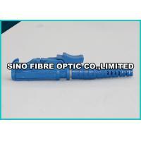2 - Hole Flange Plastic Optical Fiber Connectors 900um Blue E2000 APC Connector