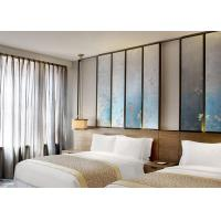 China Twin - Bed Luxury Hotel Furniture With Rustic Style Tan Ash Finishing on sale