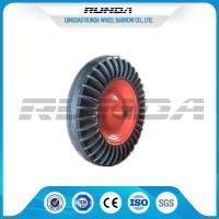 16 Inch Solid Rubber Wheels Black Tyre Color Steel Rim 150kg Loading For Tractor