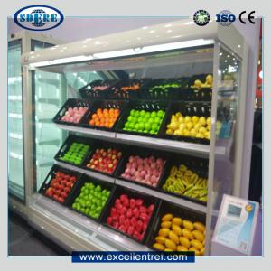 China vegetable display fridge in supermarket&grocery store on sale