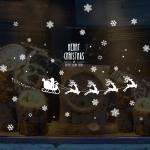 Shopping Window PVC 3D Merry Christmas Snowflake Stickers Christmas Wall Stickers Living Room Bedroom Home Decoration