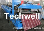 Material Thickness 0.3-0.7mm Roof Tile Making Machine With PLC Touch Screen Control