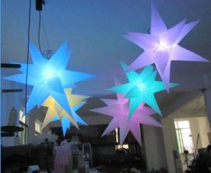 China Multi - Color Inflatable Led Lampstand Star Light Effects With CE / UL Blower on sale