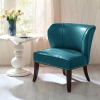 China Overstuffed Upholstered Accent Chairs , Leather Accent Lounge Chair With Armless on sale