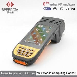 China Rugged Handheld Terminal Android Compatible Printers PDA Scanner With Printer on sale