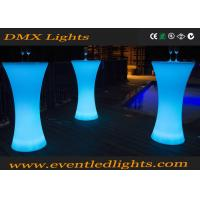 Glowing Bar Standing Cocktail Tables Wedding With Remote Controller , 16 Colors Changed