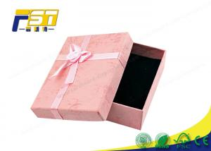 China Square Pink High End Gift Boxes Custom Logo High Gloss Cardboard Packaging With Lids on sale