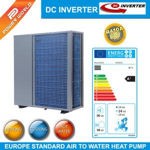 China R410A  efficient air to water heat pump DC inverter heat pump for cooling heating or DHW on sale