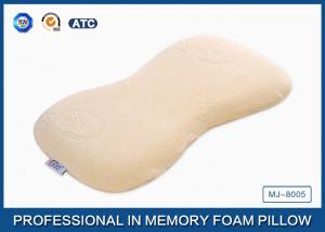 China Curved Safe Memory Foam Baby Pillow For Infant Neck / Shoulder And Flat Head on sale