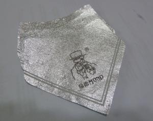 Quality Silver Self Adhesive Removing Beer Bottle Labels Aluminum Foil Heat Resistant for sale