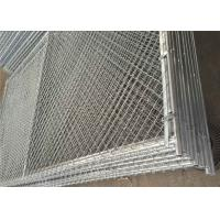 Portable Construction Freestanding Chain Link Fence Panels ASTM A392-06 Standards