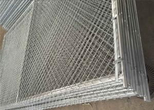China Portable Construction Freestanding Chain Link Fence Panels ASTM A392-06 Standards on sale