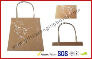 China Customized Craft Paper Packaging Bags Foil In Silver With Nylon Tape on sale
