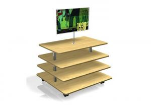 Quality Middle Flooring Stand Wood Display Table , Practical 3 Tier Retail Display for sale