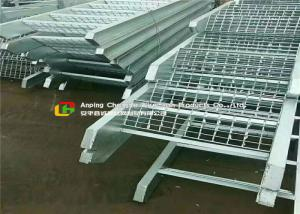 China Offices / Schools Serrated Steel Grating 65mm Bearing Bar Pitch Silver Color on sale