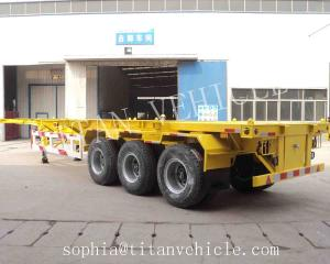 Titan 3axle 40ft container trailer chassis for loading