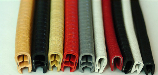 Flexible Pvc U Channel Edge Trim Sealing Strip For Sheet