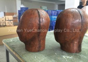 China Brown Color Wood Finished Standing Display Rack Resin Glasses Display Rack on sale