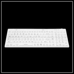 China Portable Silica Gel Keyboard , White Industrial Usb Wired Keyboard on sale