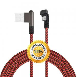 China Universal Mobile USB Cable / Micro Right Angle USB Cable To Android Phone on sale