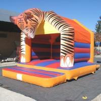 Outdoor Plato PVC Tarpaulin Inflatable Bouncy Castle Tiger Head