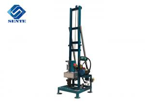 China Portable water drilling machine, can drill 100m depth, 300mm diameter, blue, home farm use on sale