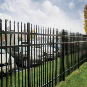 China 50 * 50mm Powder Coated Tubular Steel Picket Fence on sale