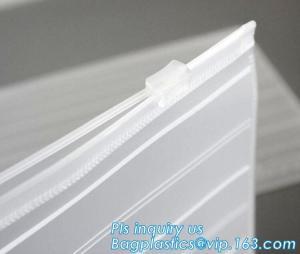 China slider zipper PVC plastic bag for packing bed sheet, Flat Zipper Top PVC Slider Zipper Bags For Towel Washing Goods Pack on sale