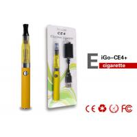 China 650mAh 3.7V 1.6-2.1ML Health EGO CE4 Electronic Cigarette For Ladies , Big Vapor on sale