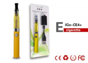 China 650mAh 3.7V 1.6-2.1ML Health EGO CE4 Electronic Cigarette For Ladies , Big Vapor on sale